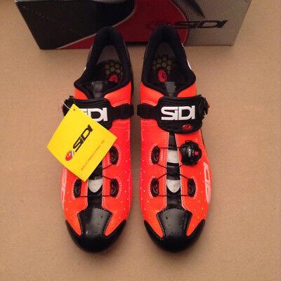 acf51e0fb1764 Sidi Scarpe Wire Carbon Road bike Shoe Orange Black EU 46 US 11.5