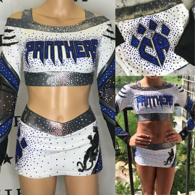 Real Cheerleading Uniform  Allstars CA Panthers Adult Med