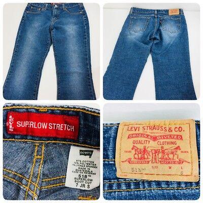 Levi's 518  Women's Size 7 Jr S   Super Low Bootcut Jeans Measured 30x30    (Junior Size Measurements)
