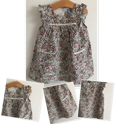 Baby Gap Baby Girls Floral Cordrouy Dress 12-18 Months
