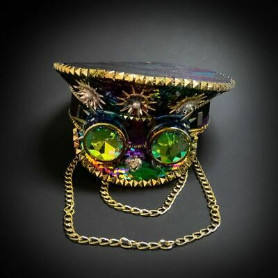 Steampunk Hat Burning Man Cosplay Costume Top Hat - Mardi Gra Outfits