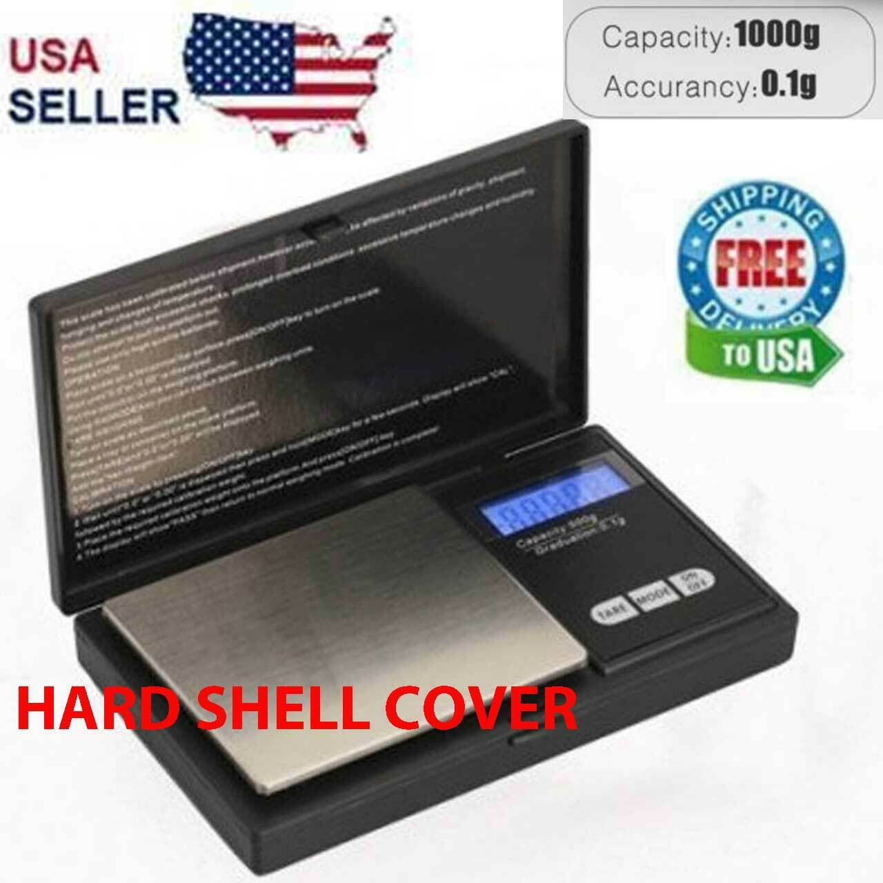 Digital Scale 1000g x 0.1g Jewelry Pocket Gram Gold Silver Coin Precise NEW Jewelry & Watches