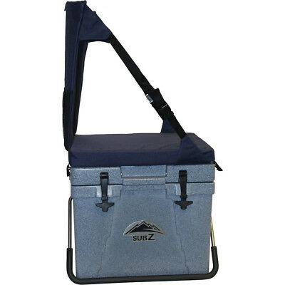 Nash SubZ SZ23B 23 Quart Blue Cooler/IceChest w/Blue Seat RotoMolded Made in USA