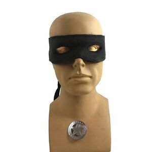 Lone Ranger Style Mask And Ranger  Badge Costume Kit 2 PC Kit