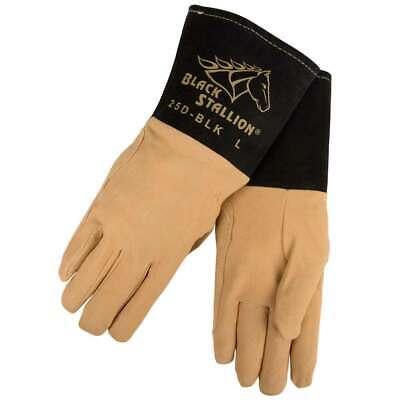 Black Stallion 25d-blk Premium Deerskin Tig Welding Gloves Medium