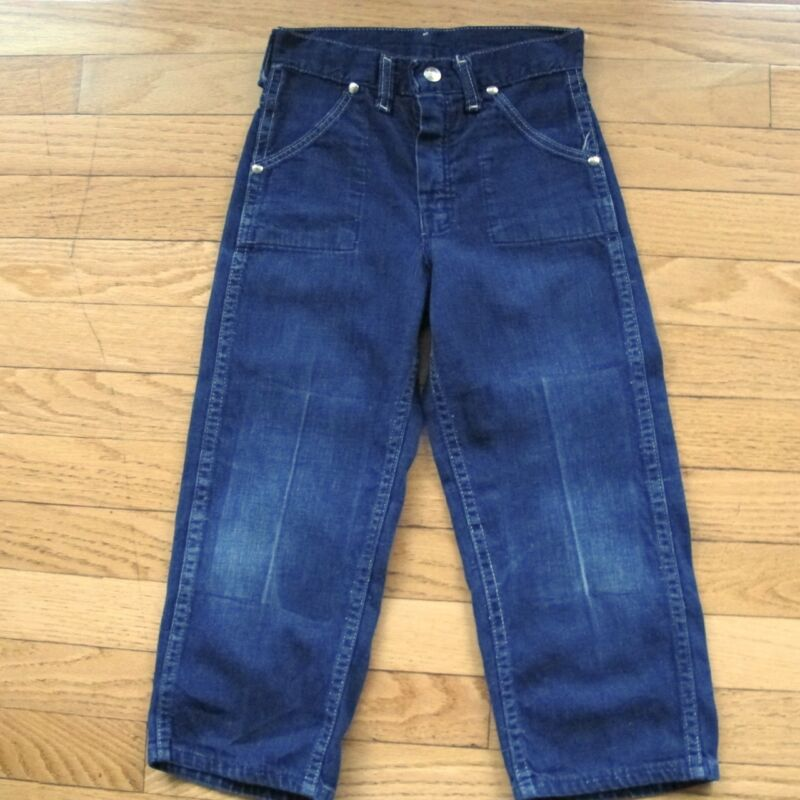 VINTAGE ORIGINAL DENIM JEAN PANTS SANFORIZED DARK DENIM 1950