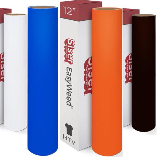 """Siser Easyweed Heat Transfer Vinyl HTV - Pick 5 Colors for $39.95, 12"""" x 3ft Ea."""