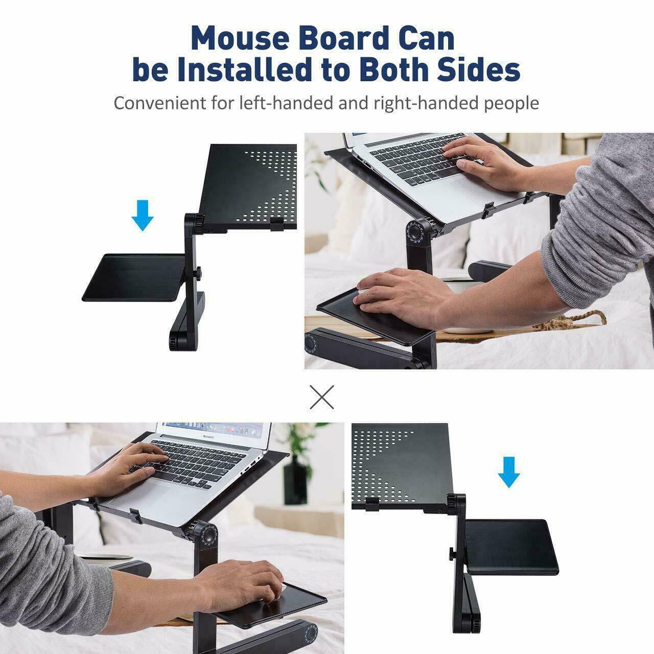 Faltbar Betttisch Laptoptisch Notebooktisch PC Laptop Ständer Klapptisch 360 °