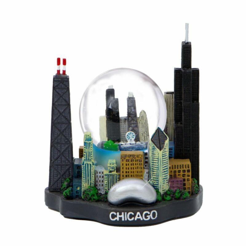 Mini Chicago Snow Globe Skyline Replica
