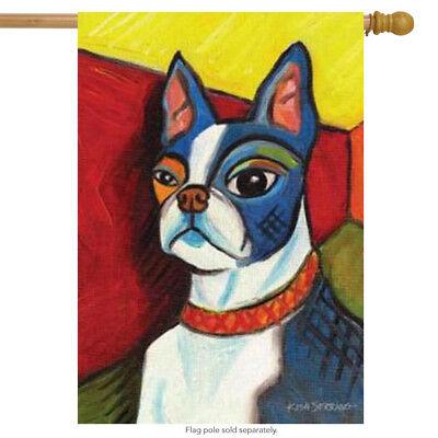 - Pawcasso Boston Terrier Dog House Flag Animals Toland Decorative Pet 28