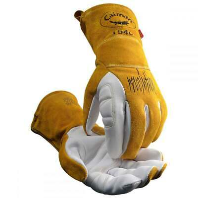 Caiman 1540 Goatskin Palm Kontour Pattern Fr Fleece Insulated Tig Glove Medium