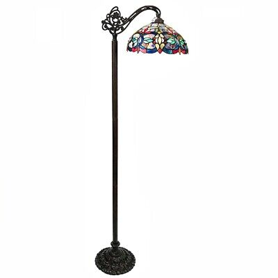 Victorian Stained Glass Reading Floor Lamp Tiffany Style (Victorian Reading Glasses)