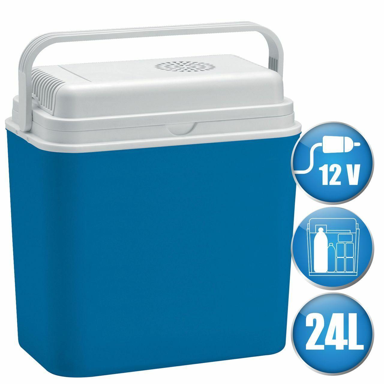 LEX elektrische Kühlbox 24 L Reise Camping Mini Kühlschrank 12 Volt Auto Caravan