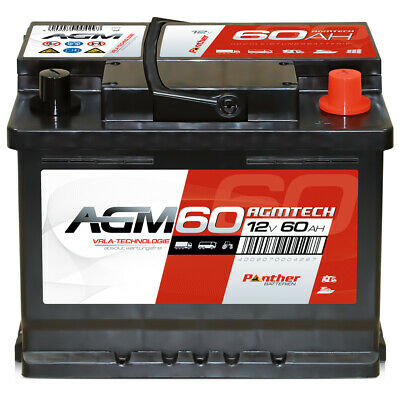Panther AGM 12V 60Ah Versorger Batterie Mover Boot Solarbatterie Traktor Reha