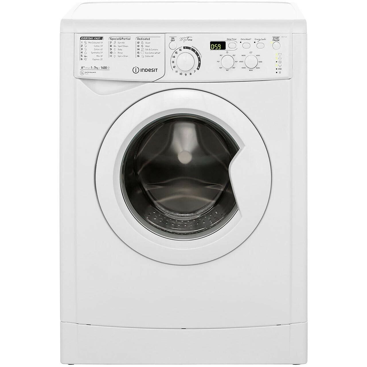 Indesit, Freestanding Washing Machine - A++ Rated - White (EWD71452W).