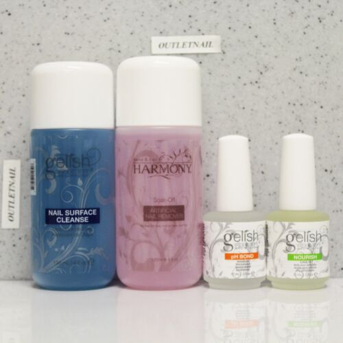 Gelish Harmony Kit 4pc Cleanser Cleanse 4oz +remover 4oz ...