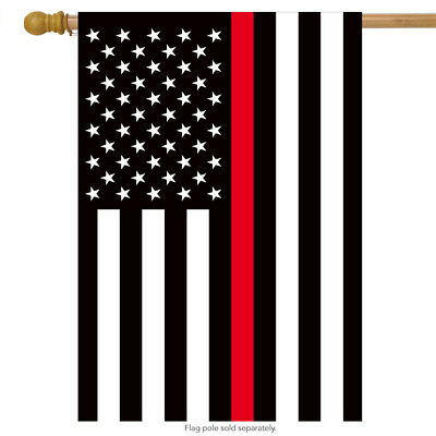 Thin Red Line House Flag Firefighter Patriotic 28