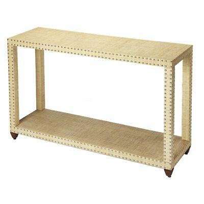 WILLIAMS SONOMA MEADE RAFFIA REPLICA CONSOLE SOFA TABLE Modern Farmhouse Beach - Raffia Table