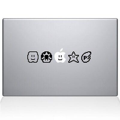 Mario Powerups super decal vinyl sticker macbook laptop pro air skin 13 15 17