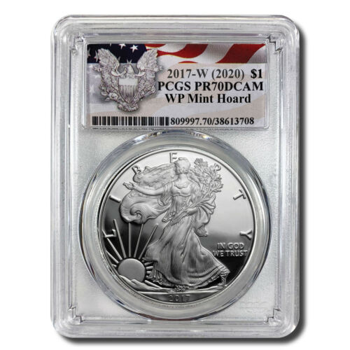 2017-W (2020) Proof Silver Eagle PCGS PR70 DCAM (West Point Mint Hoard)