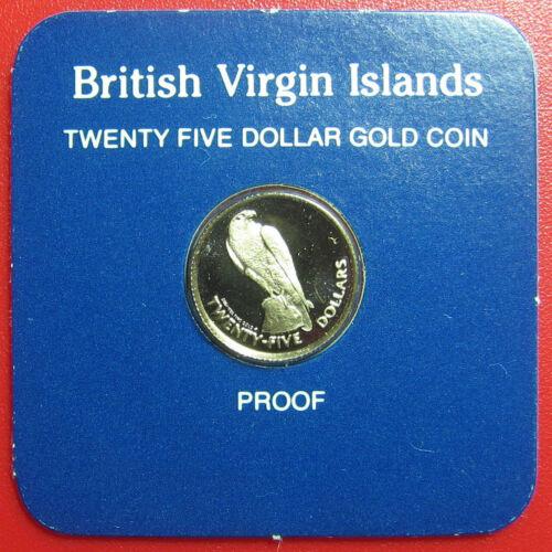 1984 BRITISH VIRGIN ISLANDS $25 GOLD PROOF PEREGRINE FALCON RARE MINT=97 COINS!
