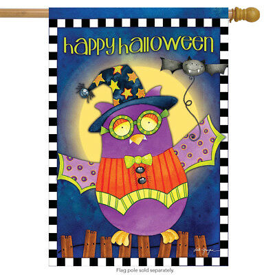 Halloween Owl Primitive House Flag Holiday Costume 28