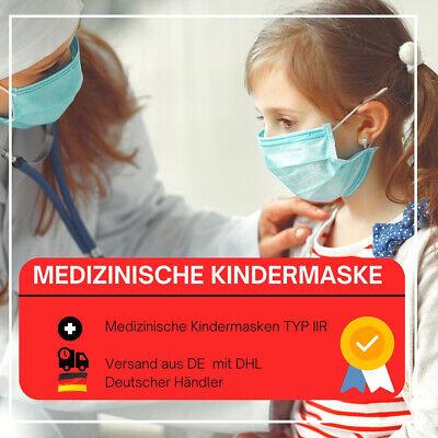 Chirurgische Masken für Kinder medizinische Einweg Maske CE TYP IIR EN14683 BLAU