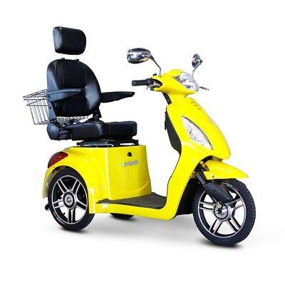 EWheels Yellow, FAST EW-36 Mobility Scooter, Electric 3 Wheel Cart, 350 lb Cap.