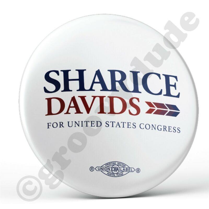 Official Sharice Davids Kansas US Congress LGBTQ Gay Campaign Pin Pinback Button