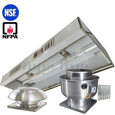 18 Ft Restaurant Commercial Kitchen Exhaust Makeup Air Hood Captiveaire System