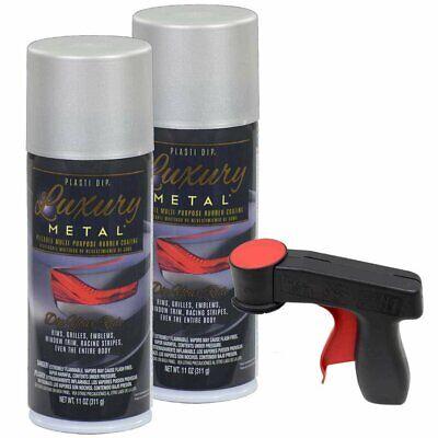 Plasti Dip Luxury Metal Spray 2-11oz Cans With Cangun Satin White Aluminum