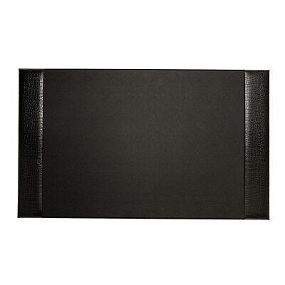 Bey Berk Desk Pad Black Croco Leather