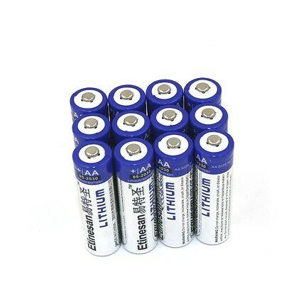 12pcs Etinesan 1.5V AA Lithium 2900mAh NEW Ultimate Battery EXP 2030 or