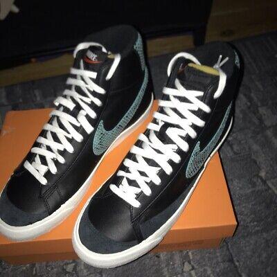 Nike Blazer Mid 77 Reptile Aqua Sail Black UK Size 10