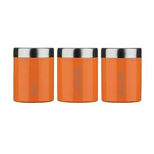 Orange Kitchen Canisters