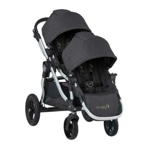 Baby Jogger City Select Twin Tandem Double Stroller w/ Second Seat Jet 2019