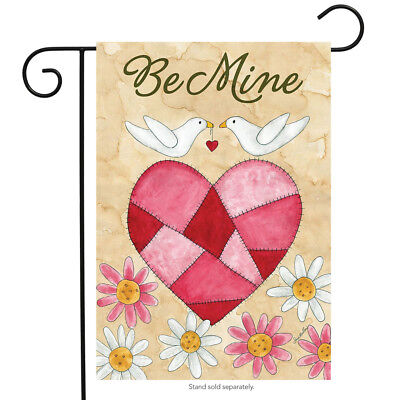 Love Birds Garden Flag (Be Mine Love Birds Valentine's Day Garden Flag Briarwood Lane 12.5