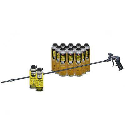 Great Stuff Wall Floor Adhesive 12 26.5 Oz Cans 40 In Foam Gun 2 Cleaner