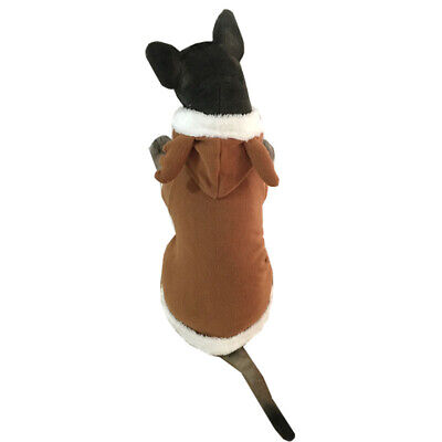 Xmas Pet Puppy Dog Christmas Clothes Reindeer Costume Coat Apparel Hoodie Gift ()