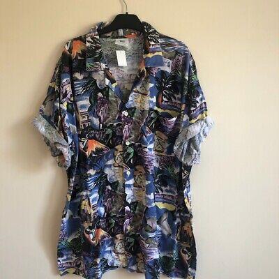 Mens Hawaiian Vintage Shirt XXL