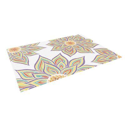 "Kess InHouse Pom Graphic Design ""Floral Rhythm"" Indoor/Outdoor Floor Mat"