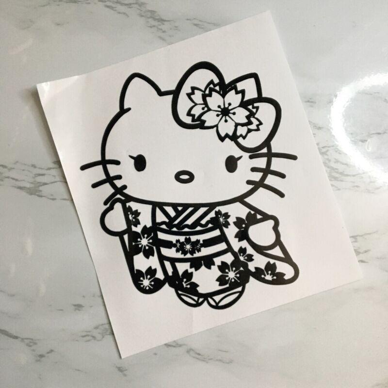 Hello Kitty Kimono Vinyl Decal Sticker Laptop Car Window