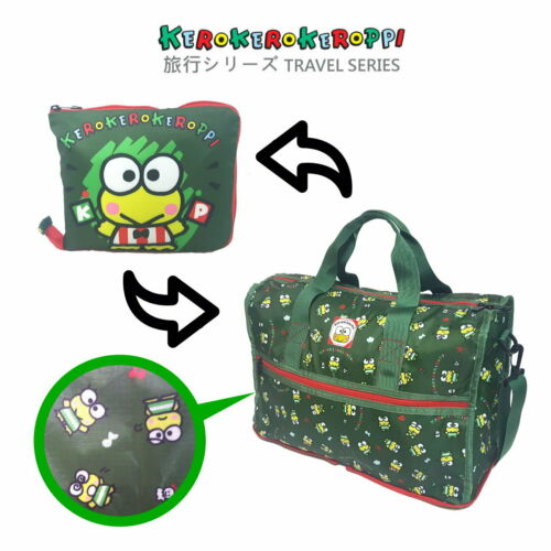 Sanrio Kerokerokeroppi Exclusive Travel Accessories Foldable Sport Duffel Bag