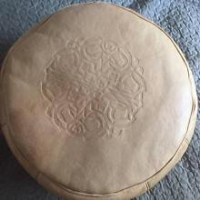 Imported Leather Moroccan Pouf/Ottoman (3) Spotswood Hobsons Bay Area Preview