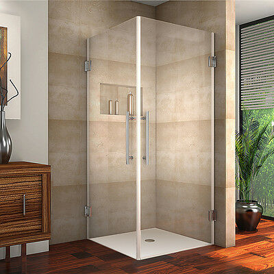 "ASTON Broad Vanora 38"" x 38"" x 72"" Completely Frameless Square Shower Courtyard"