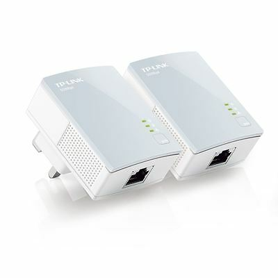 TP-Link TL-PA411KIT 500Mbps Nano Powerline Ethernet Adapter Home Plug Twin Pack