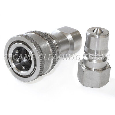 Carpet Cleaning Wand Stainless Steel 14 Quick Connect Coupler Valve Truckmount