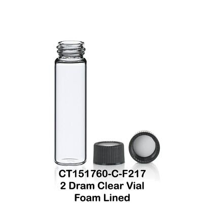 2 Dram 8 Ml 17x60 Mm Clear Glass Vials With Screw Caps