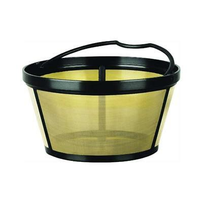 12 Cup Gold Tone Filter - Mr. Coffee Reusable Coffee Filter Basket Style 8-12 Cup