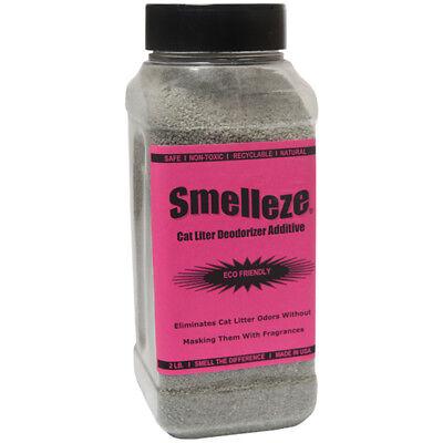 SMELLEZE Natural Cat Litter Smell Deodorizer Additive: 2 lb Granules Rid Odor